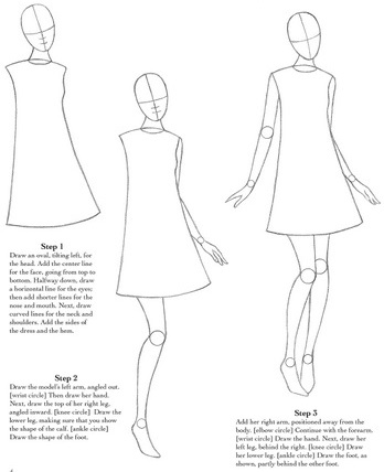 how to draw fashion figures in simple steps wwwpixshark