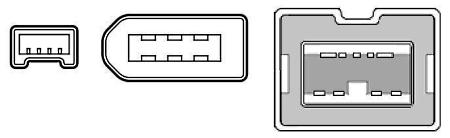 4 Pin 6 And 9 Firewire Connectors