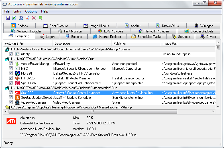 how to vb6 app to run first on windows startup