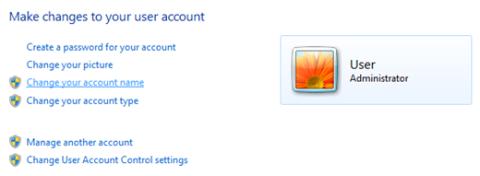 how to change windows account name
