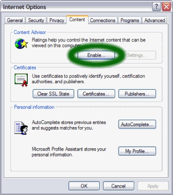 Restrict Web Browsing With Internet Explorer