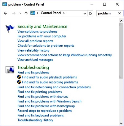 View a Brief List of Windows 10's Recent Problems
