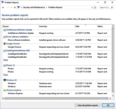 View A Brief List Of Windows S Recent Problems