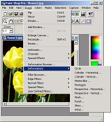 How To Dump Paint Behind Photoshop Picture