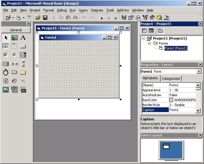 Visual Basic 6 IDE