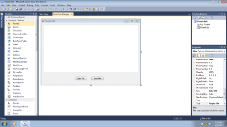 Visual Basic 2010 Textbox Based Simple Edit Program